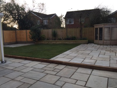 Indian sandstone patio in Bedworth