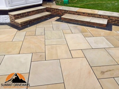 Natural Stone Patio in Bedworth